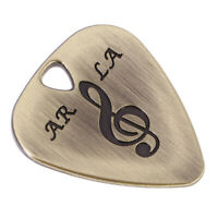 Metal Guitar Pick Plectrum for Bass Acoustic Electric Guitar Part Bronze