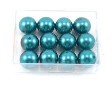 12 Wachsperlen 20mm türkis Perlen Hochzeit Perlensterne Drahtsterne