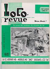 LOCO REVUE N°269 CC HORNBY HO / DEPOT 3 VOIES HO / CC 7121 RECORD DE VITESSE