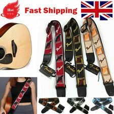 More details for embroidered guitar strap fender straps for electric guitar acoustic ukulele bass