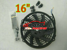 """16"""" Inch Pull&Push Radiator Electirc Thermo Curved Blade FAN & MOUNTING KITS"""