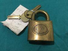 Antique Corbin Padlock w/ Key Blanks - Locksmith