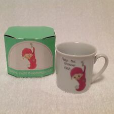 Precious Moments Enesco Baby's 1st Christmas Porcelain Baby Cup 1983 Japan Vntg