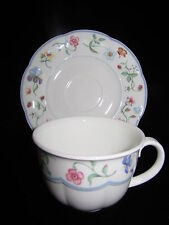 VILLEROY & BOCH MARIPOSA FLAT CUP AND SAUCER SET  IN EXCELLENT CONDITION