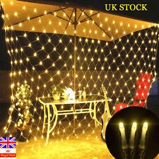 Waterproof LED String Fairy Lights Net Mesh Curtain Xmas Wedding  Outdoor Decor