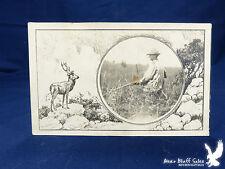 Hunting Deer in Georgia Commercial Litho PC 1911 Hunters Photo In Circle