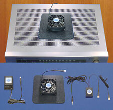 AV/Receiver 12v trigger-controlled cooling fan w/air-chamber base/multi-speed