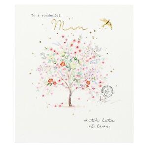 Wonderful Mum Flowering Tree Mothers Day Card – Paperlink Illustrated Design