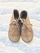 Lands End boys tan suede nubuck gum chukka boots - size 13