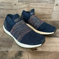 Adidas Mens Sneakers Ultra Boost Laceless Parley 26.5cm US8.5 Size Gray Black