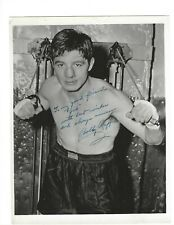 Bobby Ruffin Signed 8 x 10 Photo / Boxing Autographed 1949