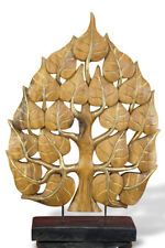 Lebensbaum 60cm Deko Aufsteller Holz Skulptur Thailand Buddha Tempel Dekoration