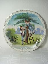 Großer Jugendstil Wandteller,Zierteller,Frankreich,Porzellan handgemalt