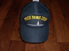 U.S NAVY SUBMARINE PRIDE RUNS DEEP HAT OFFICIAL U.S MILITARY BALL CAP U.S.A MADE