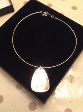 BNIB Women's Pendant Necklace Silver With Pearl Type Pendant Debenhams Was £35