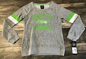 Seattle Seahawks: Girls Medium 10/12 Long Sleeve Shirt NFL Team Apparel NWT