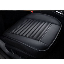 PU Leather Deluxe Car Seat Covers Protector Cushion Front Cover Universal black