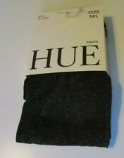 Hue Metallic tights Size L/XL Black with Gold