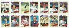 VINTAGE 1980 TOPPS Major League Baseball CARDS – Boston Red Sox-MLB