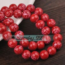 Bulk Wholesale 6mm/8mm/10mm/12mm Charms Round Glass Loose Spacer Beads Findings