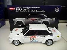 Kyosho 1:18 Fiat 131 Abarth Rallye San Remo 1980 Walther Röhrl NEU NEW