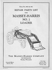 Massey Harris No.2 Front end Loader Parts manual