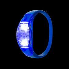 Blu Suono Attivato LED Braccialetto Luce Lampeggiante Controllo Vocale Musica