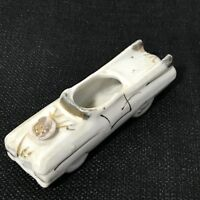 Ceramic Car Gold Trim Japan Vintage