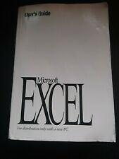 More details for microsoft excel user's guide - version 5- own a piece of history!