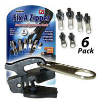 6pcs Quick Fix Zip Zipper Slider Instant Repair Kit Removable Replacement Slider