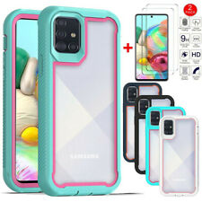 For Samsung Galaxy A51/A71 4G Shockproof Bumper Phone Case With Tempered Glass