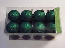 16 GREEN GLITT 2 1/2 IN CHRISTMAS ORNAMENTS DECORATION ST.PATRICKS DAY PATRIOTIC