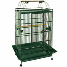 Extra Large Lani Kai Lodge Open Play-Top Large Parrot Bird Cage Rolling Stand Gr