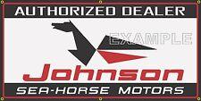 JOHNSON SEA HORSE OUTBOARD MOTORS MARINE DEALER OLD SIGN REMAKE BANNER ART 2X4