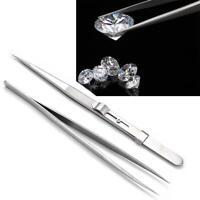 Stainless Steel Tweezer Gem&Diamond Stone Locking Tweezeers Jewelry Tweezer Tool