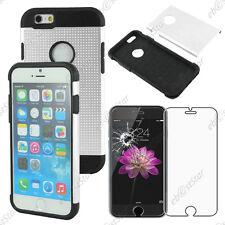 """Coque Housse Etui Armor Policarbonate Mesh Blanc Apple iPhone 6 4,7"""" Verre"""