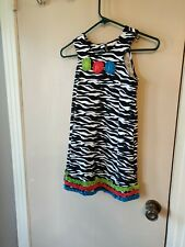 Bonnie Jean Girls Size 8 Black & White Sleeveless Dress