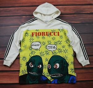 Adidas By Fiorucci Oversize  hooded jumper  track   size 42