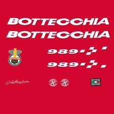 Bottecchia 989 Bicycle Decals, Stickers - White n.890