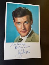The Saint Roger Moore 1960's Signed ITC Castcard