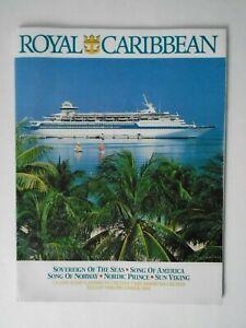 Royal Caribbean 1988 Cruise Guide - Vintage Travel Agency Cruises Brochure Book