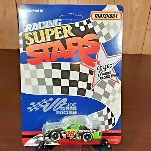Vintage diecast 1992 Matchbox Mint unpunched Joe Gibbs Racing NASCAR Super Stars