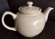 "Vintage Traditional English Beige ""Brown Betty"" Glazed Ironstone Teapot"