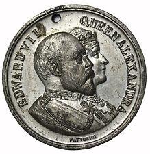 1902 King Eward VII Alexandra Bradford Coranation Medal Fattorini Great Britiain