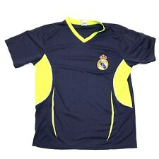 Real Madrid Maillot de Football Taille M Bleu Col V Chemise Manches Courtes Dry