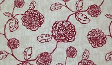 """MAGNOLIA HOME ADELE CRIMSON RED FLORAL TOILE FURNITURE FABRIC BY THE YARD 54""""W"""