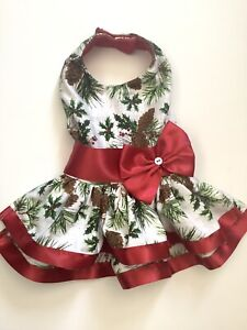 Handmade Christmas Doggie Dress S