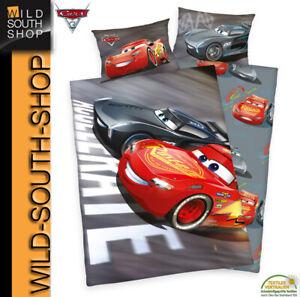 Disney`s CARS 3 Auto Bettwäsche McQueen 40x60 100x135 100% Baumwolle mit RV NEU