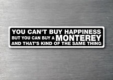 Buy a Monterey sticker quality 7yr vinyl water & fade proof cruiser speed boat