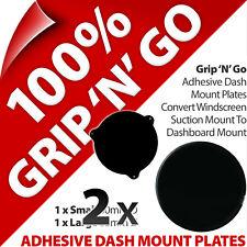 2 x 2 Pama Adhesive Dash Dashboard Plates Suction Cup Mobile Smart Phone Sat Nav